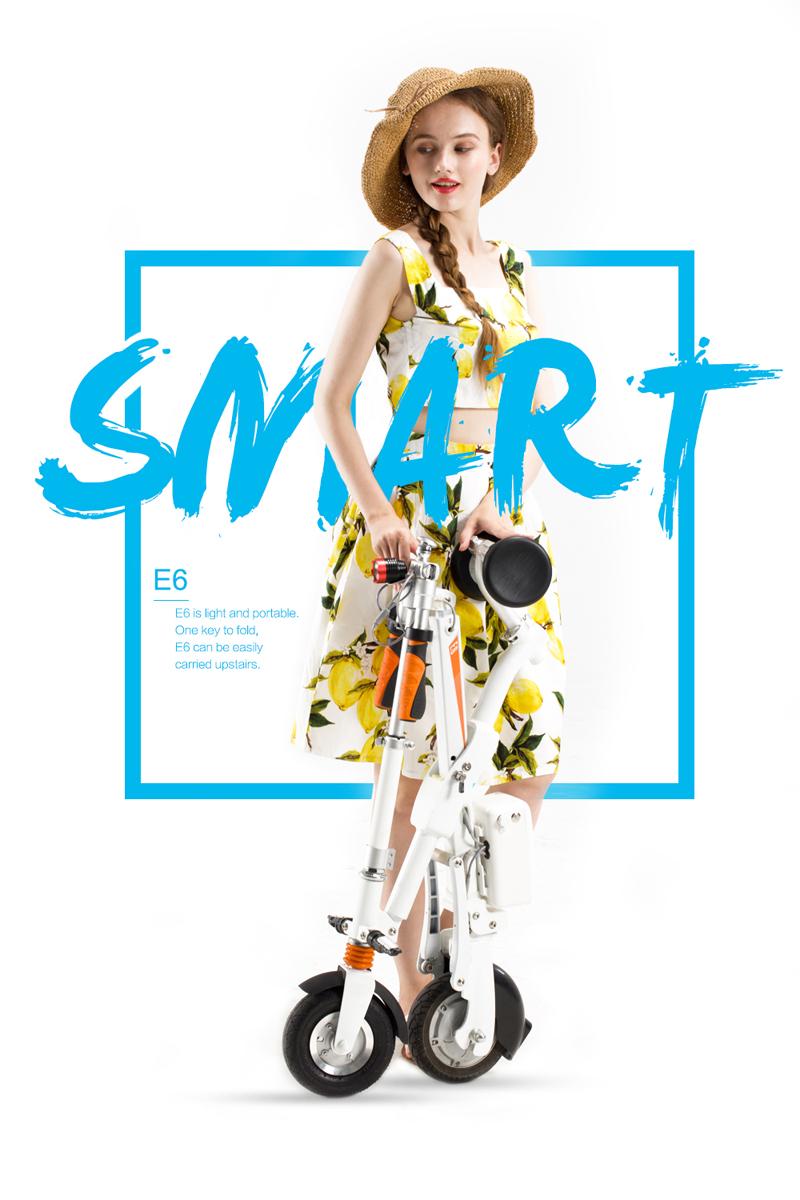 released smart electric bike E6