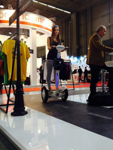Prominent self-balancing scooter manufacturer Airwheel attended EICMA 2014