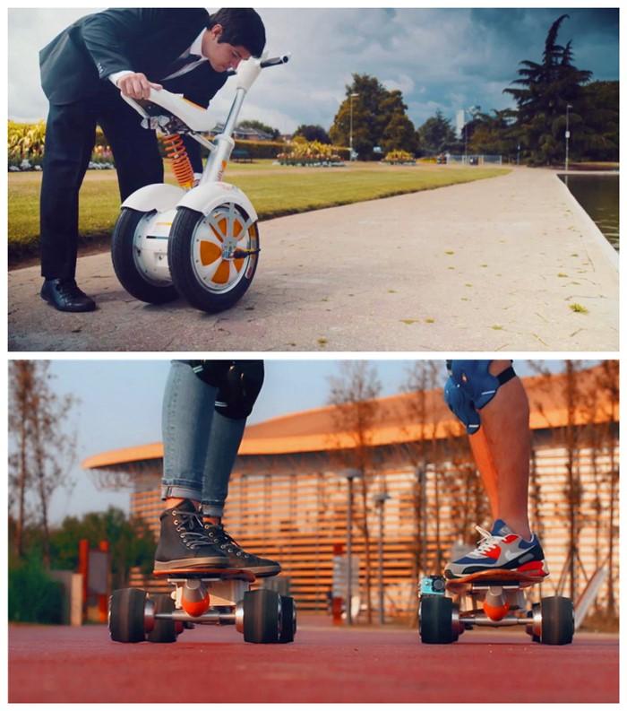 deux scooter motorisé roue
