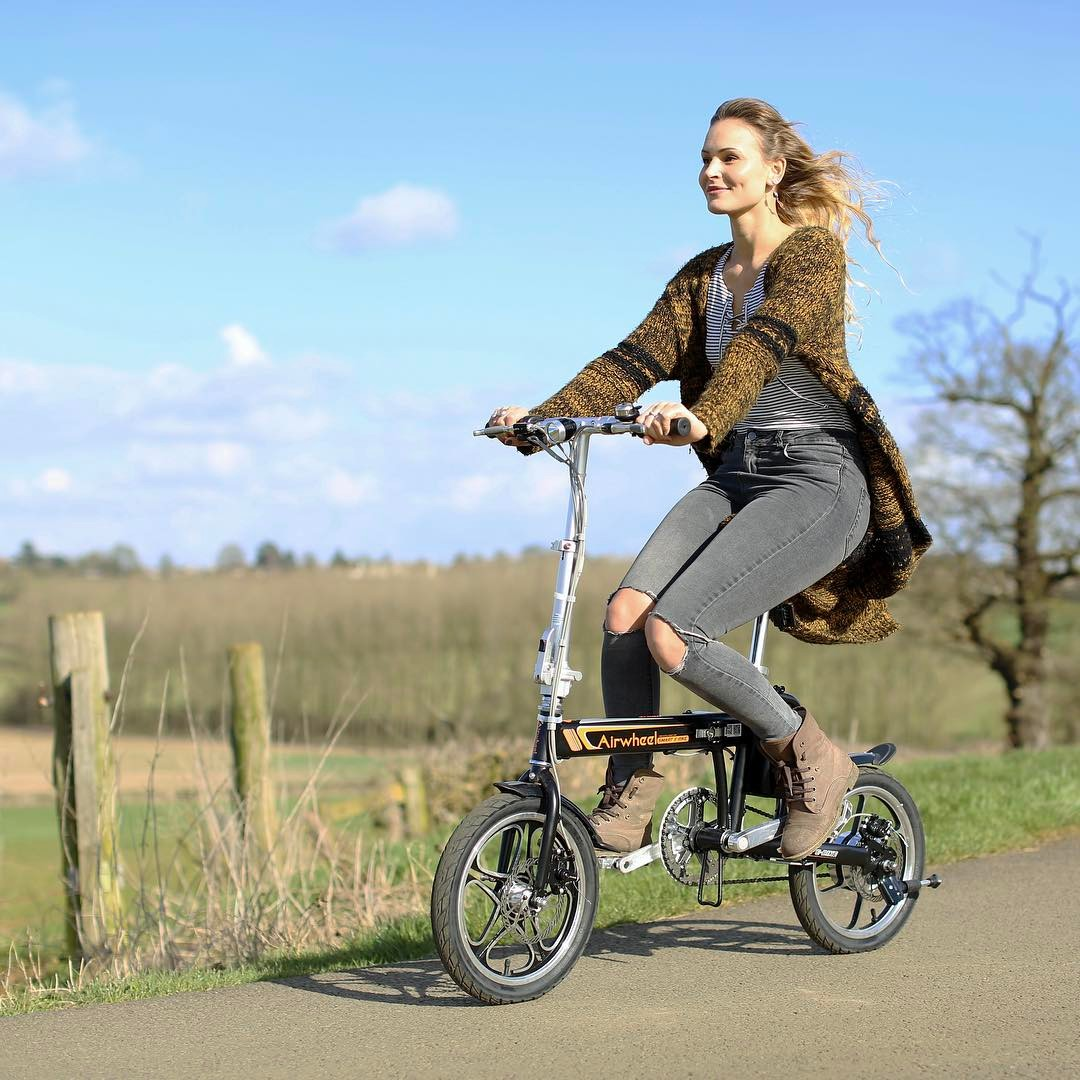 Carol with her R5 electric power bicycle