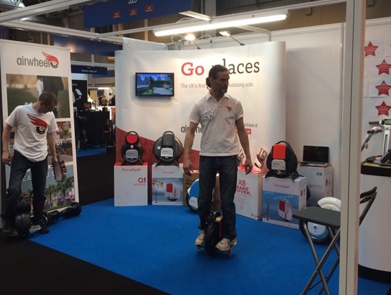 Airwheel Self-balancing Scooter Was Wrapped up in Gadget Show Live Held in England