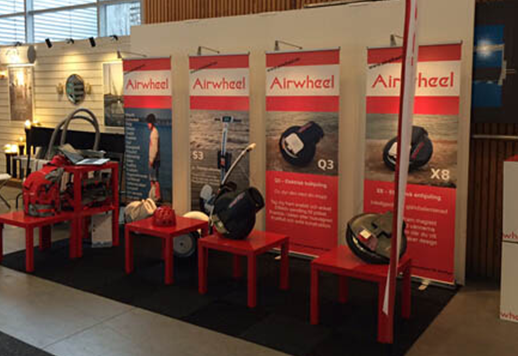 Airwheel in Stockholm International Boat Show 2015