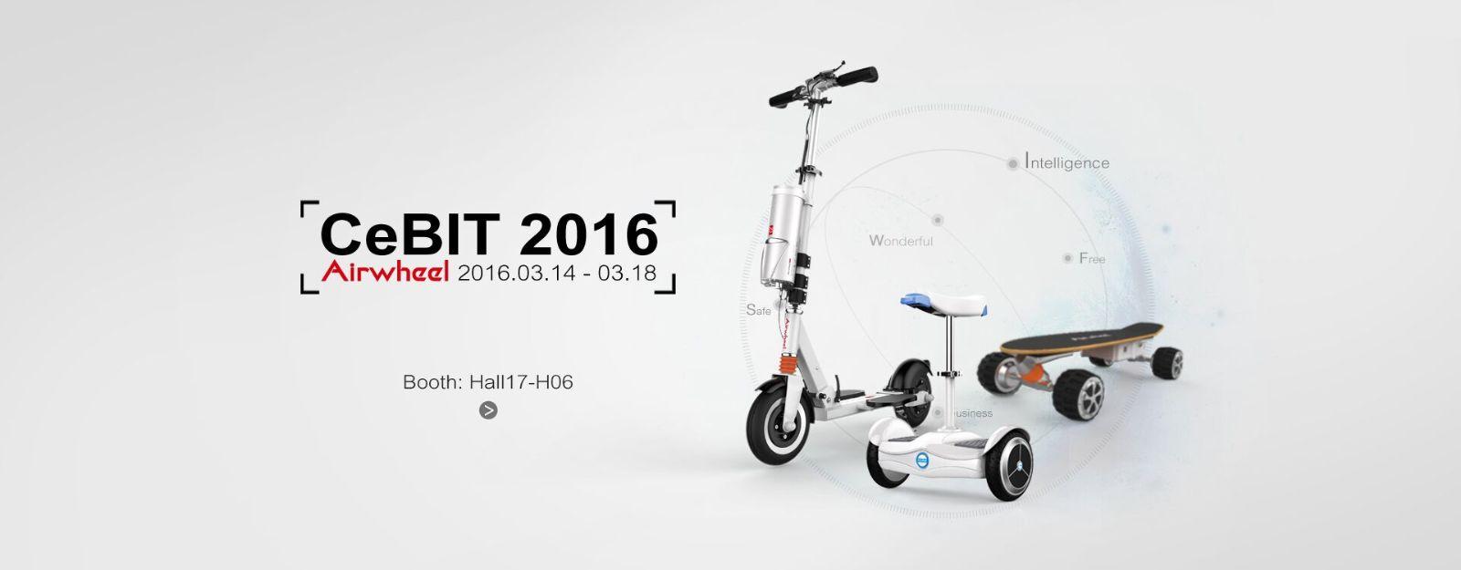 Airwheel in CeBIT selbststabilisierendes elektroroller
