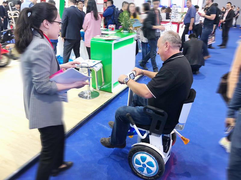 Airwheel A6T Manual Wheelchairs at 79th CMEF