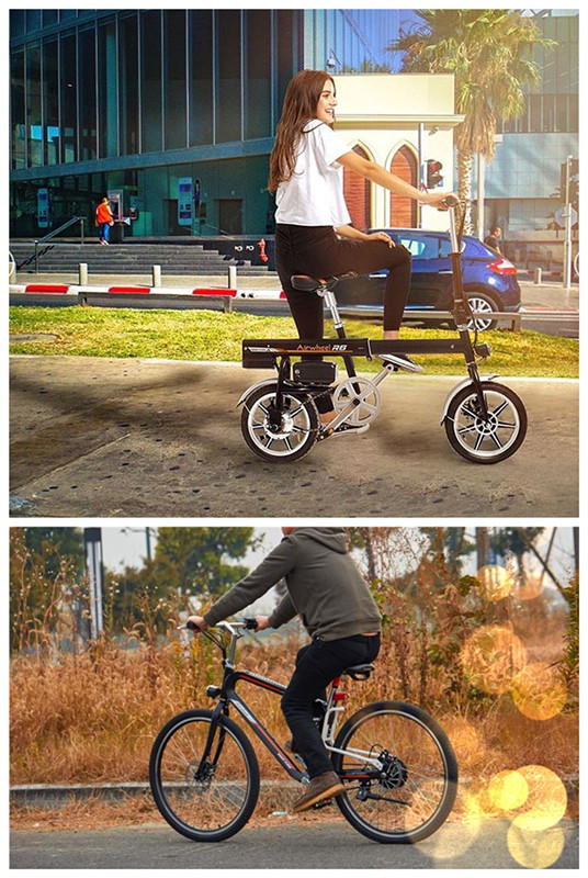 Airwheel assist electric bikes