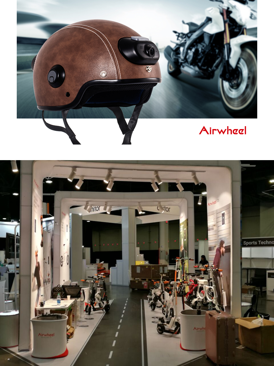 Airwheel C5 is an intelligent helmet for road safety