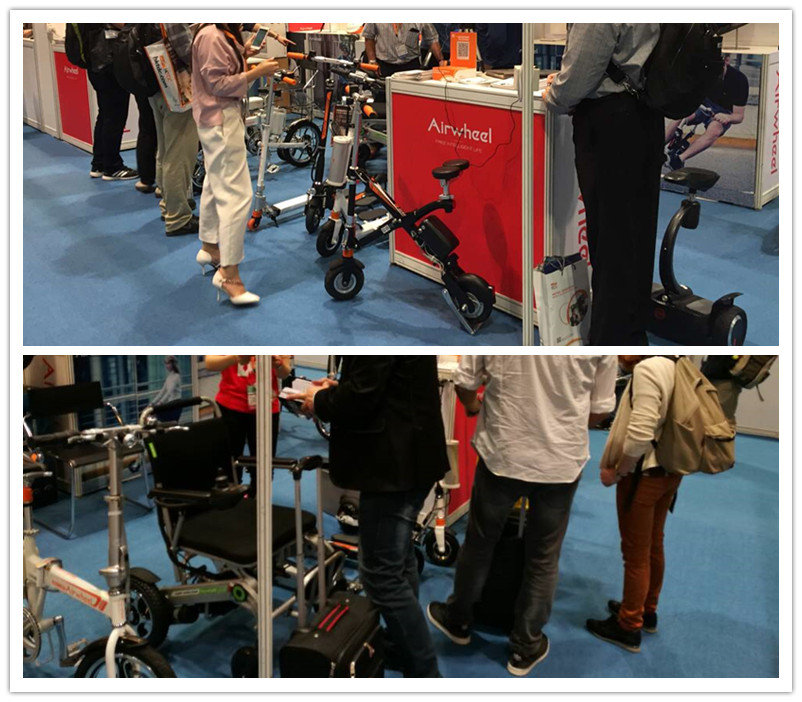 Airwheel New R Series Smart Assist Bicycles Displayed In HK Electronics Fair