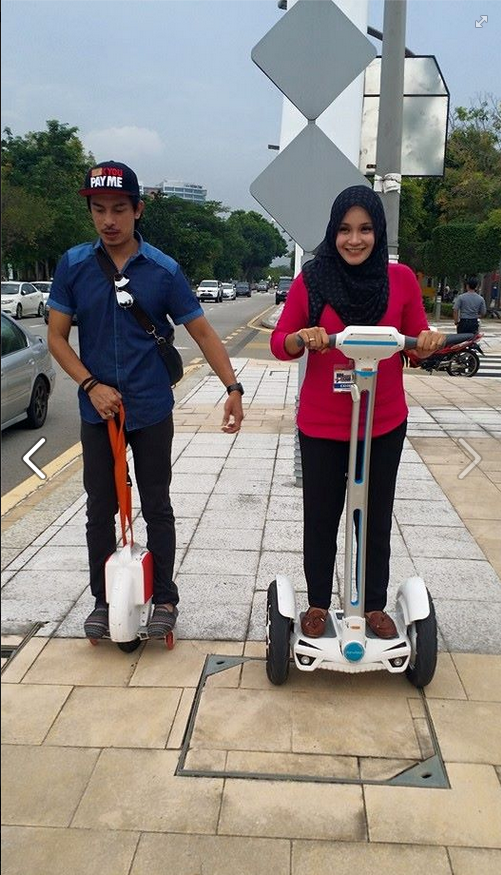 Airwheel Intelligent Electric Scooters appeared in 2015 Festival Belia Putrajaya in Malaysia.