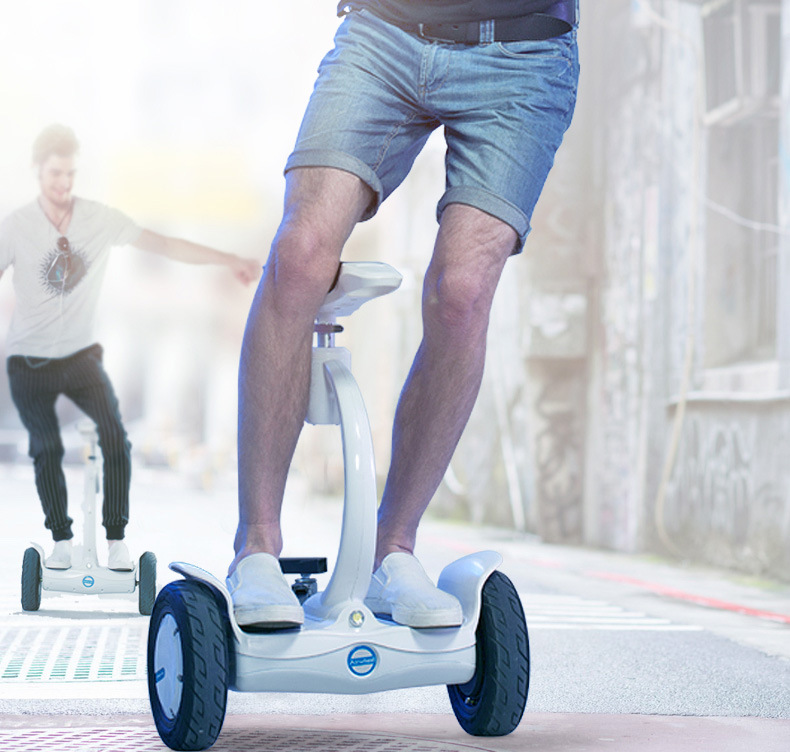 Airwheel self-balancing scooter with seat