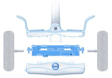 2-Rad elektrisches einrad