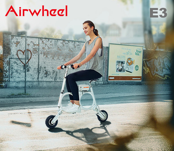 Airwheel E3 electric bicycle in backpack
