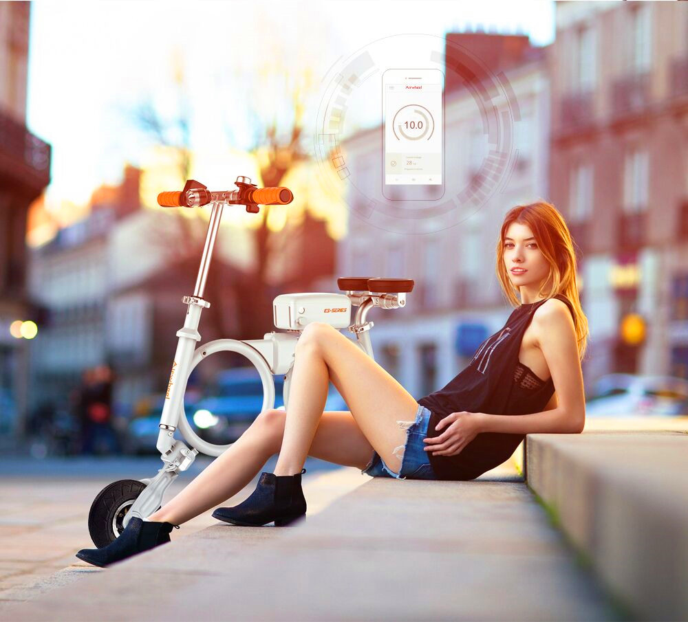 Airwheel backpack electric bike