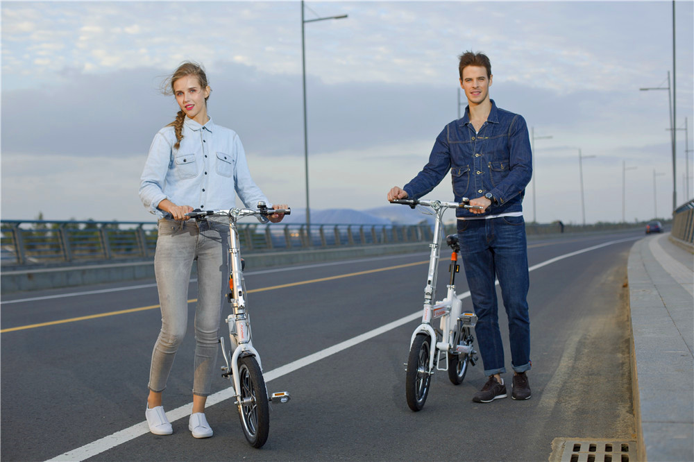 R5 smart electric folding bike