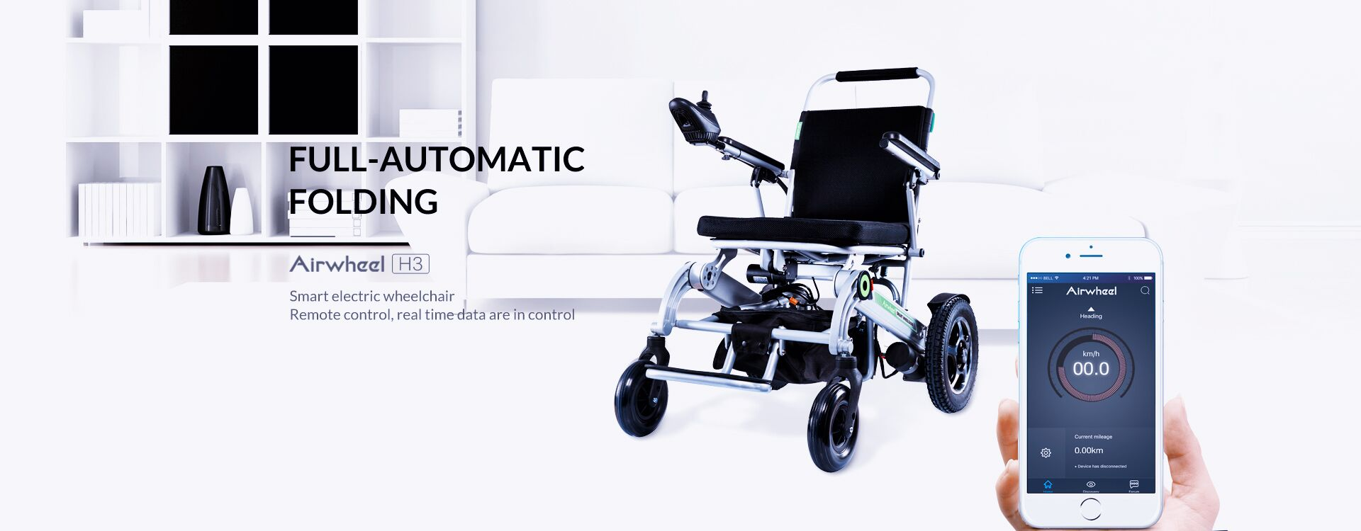 Airwheel H3 lightweight smart electric wheelchair