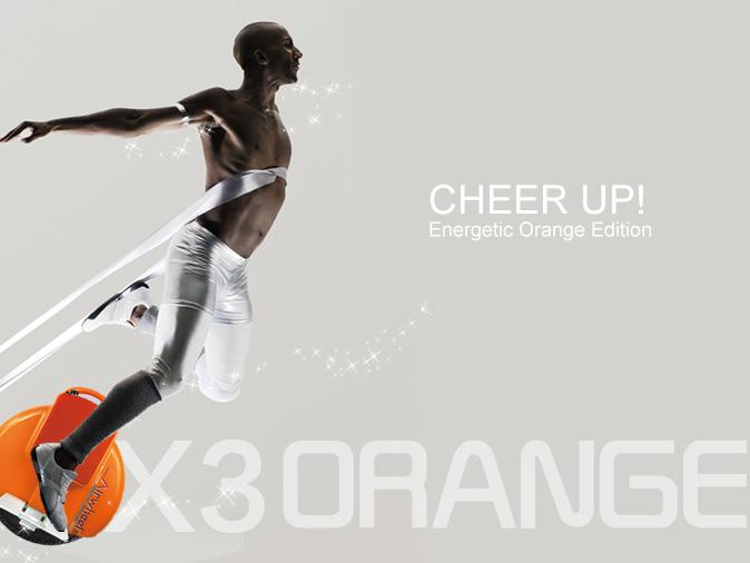 electric unicycle X3 Orange Limited