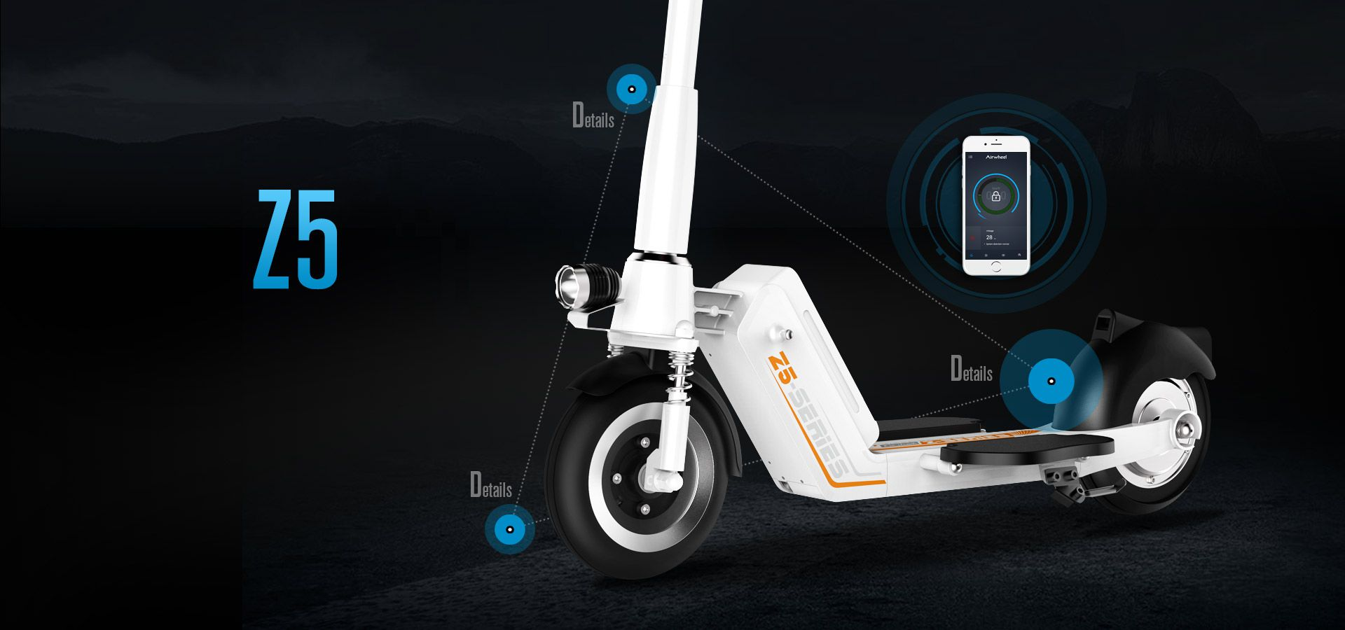 The two-wheeled electric scooter Z5