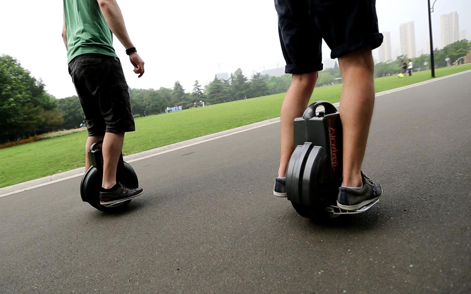 Stay with Airwheel Electric balancing two wheel scooter for a Cosy Day