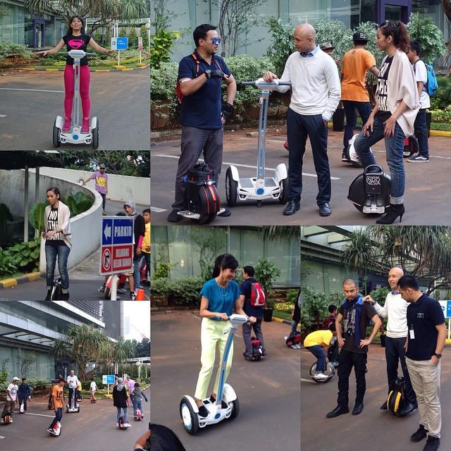 Weekend outing by Airwheel self-balancing scooter, enjoy sunshine, delicacies and joy