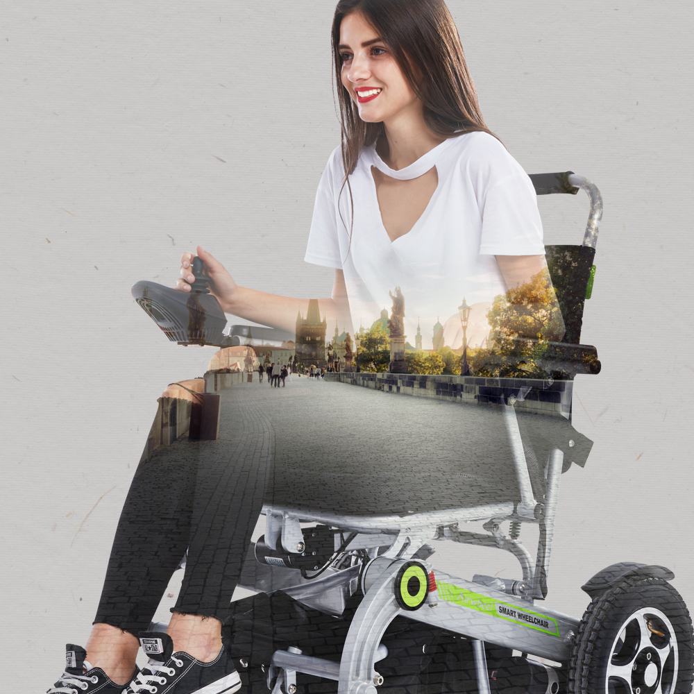 H3 smart folding electric wheelchair