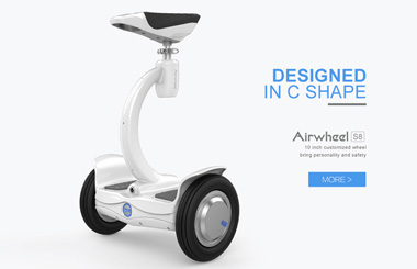 First-hand view of Airwheel S8 double-wheels electric scooter