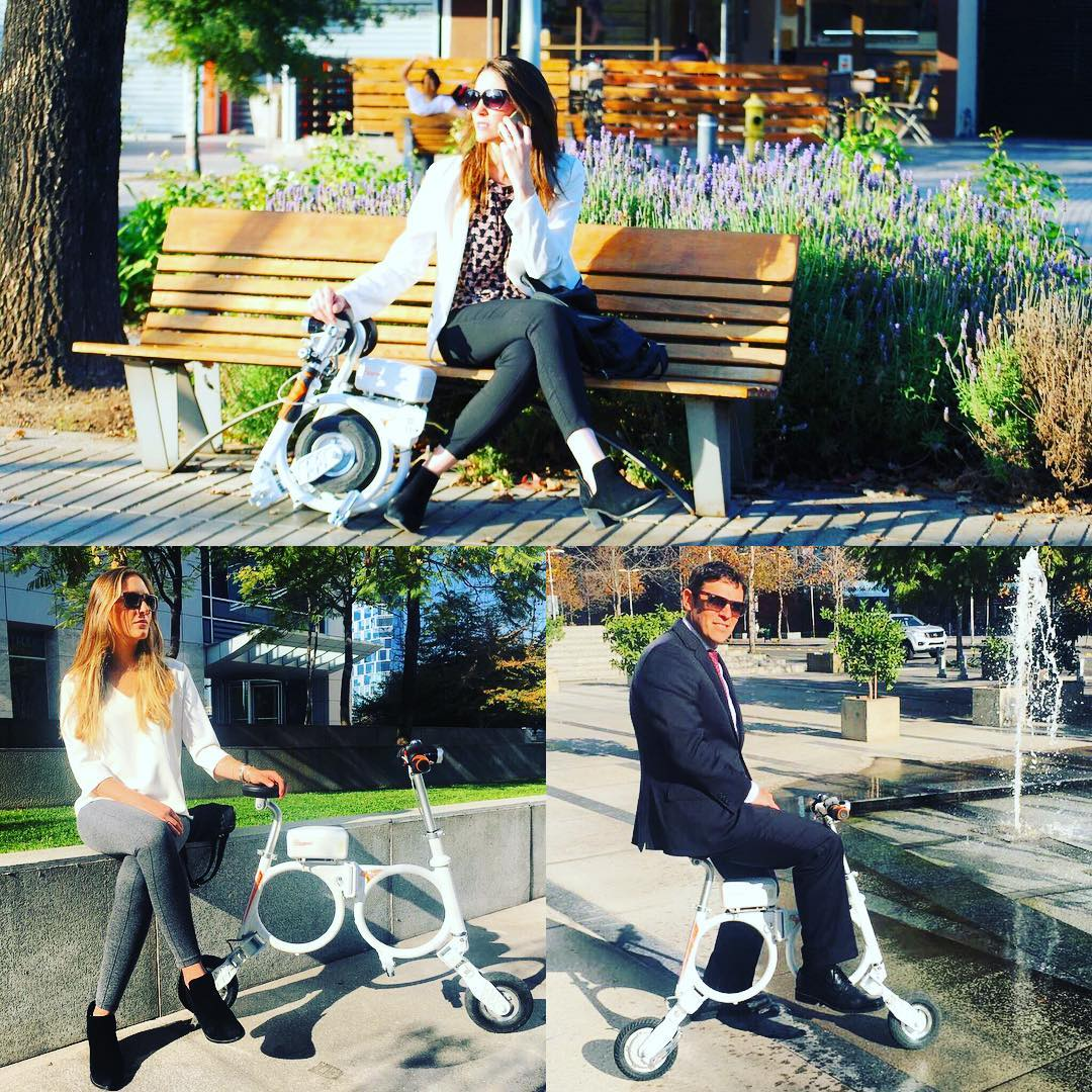 Airwheel designed its mini electric scooter