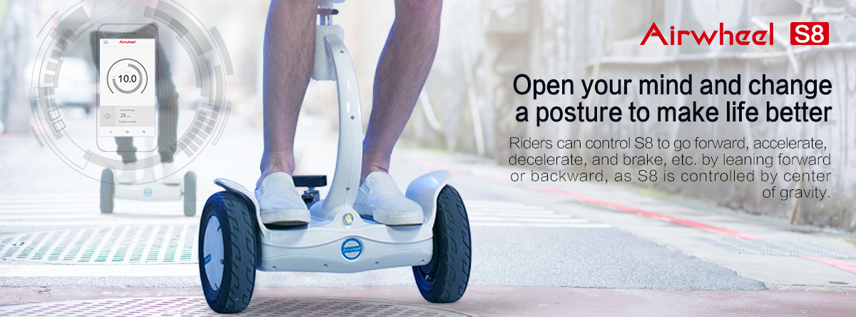 Airwheel intelligent self balancing electric scooter
