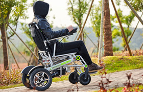 H3S smart wheelchair, featuring automatic folding system and App remote control.