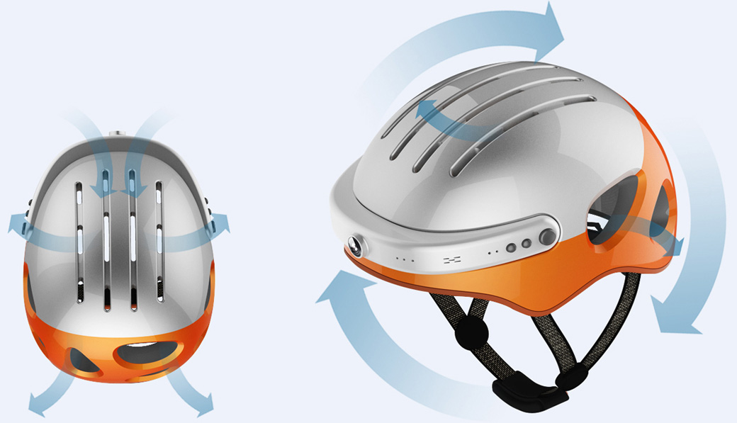Airwheel C5 cool street bike helmet