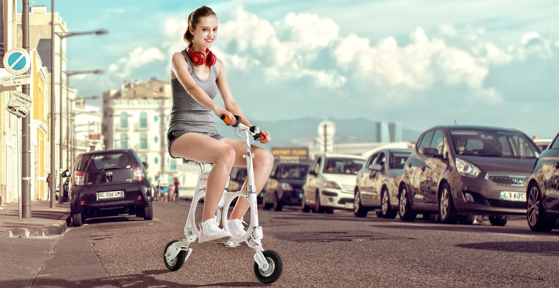 Airwheel electric bike in backpack E3
