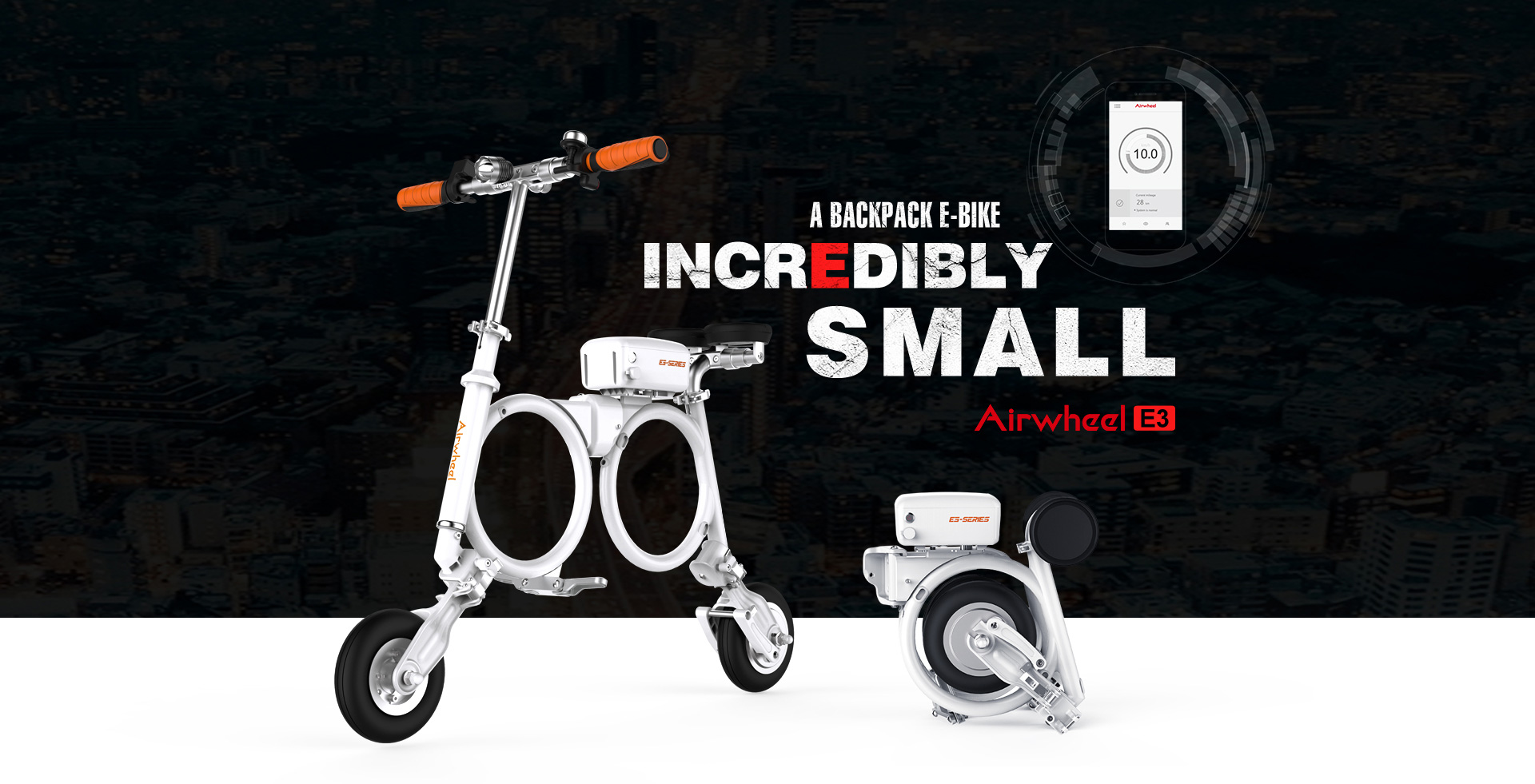 E3 intelligent foldable electric bike