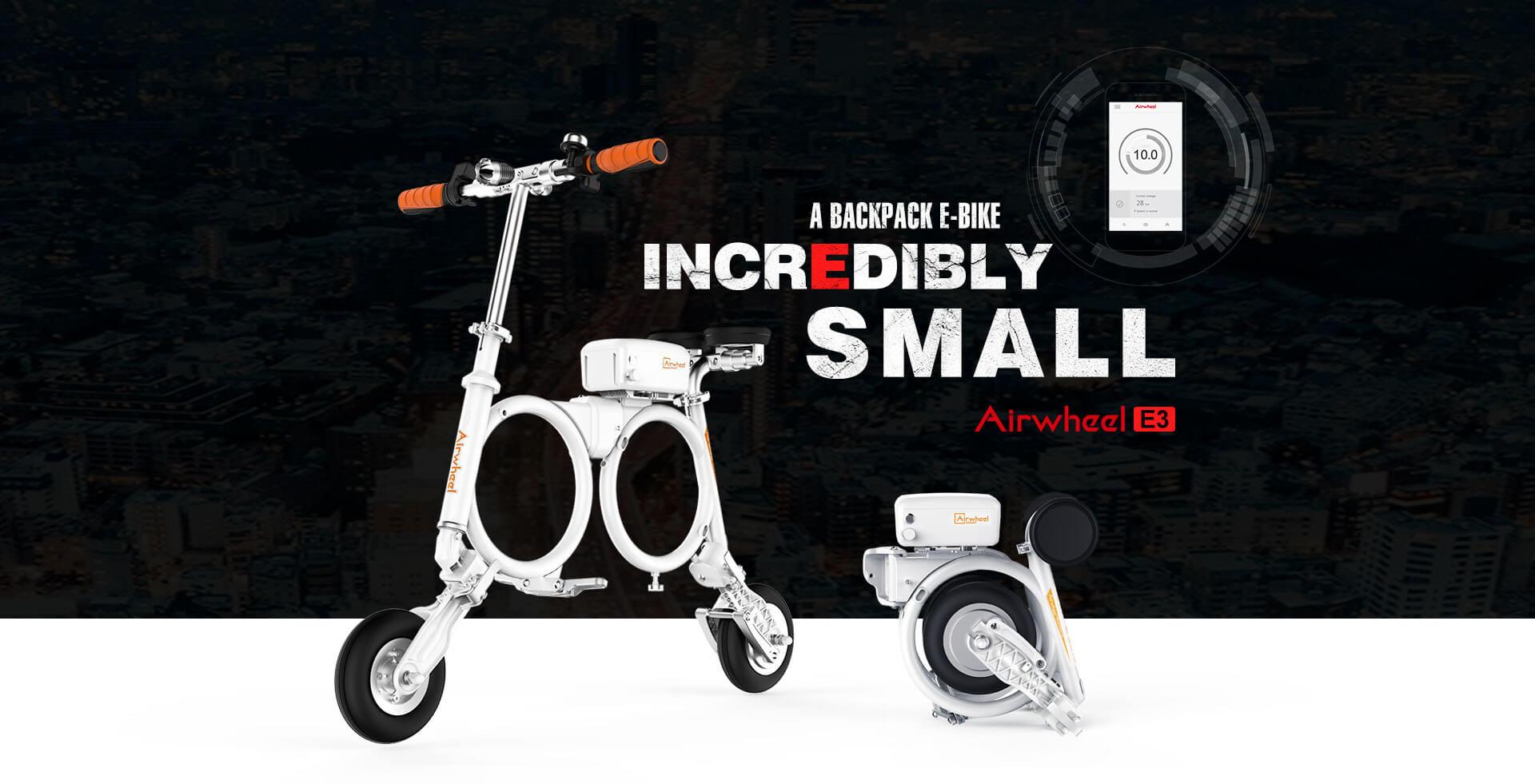 Airwheel E3 smart electric folding bike