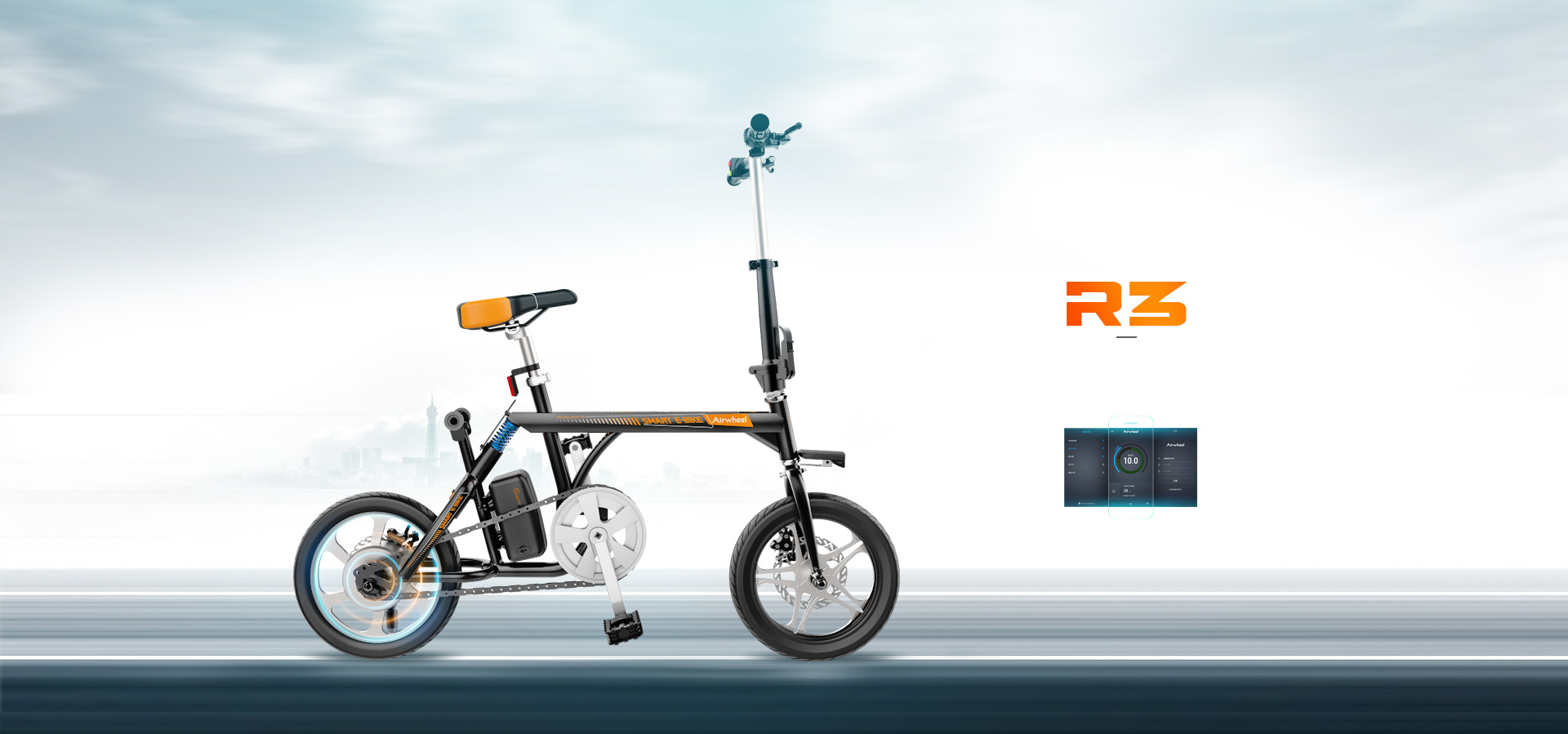 R3 electric moped bike