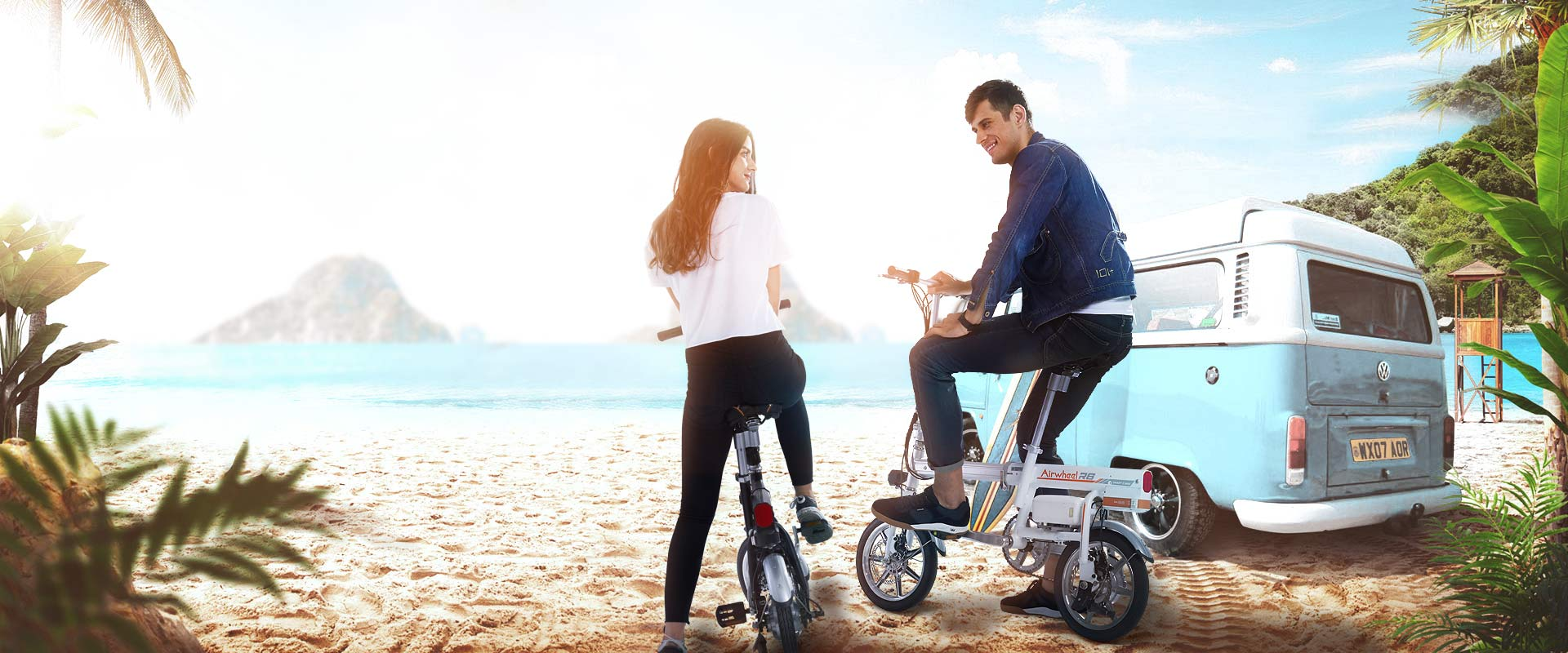 Airwheel pedal assist electric bike