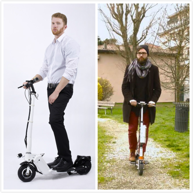 flodable electric scooter