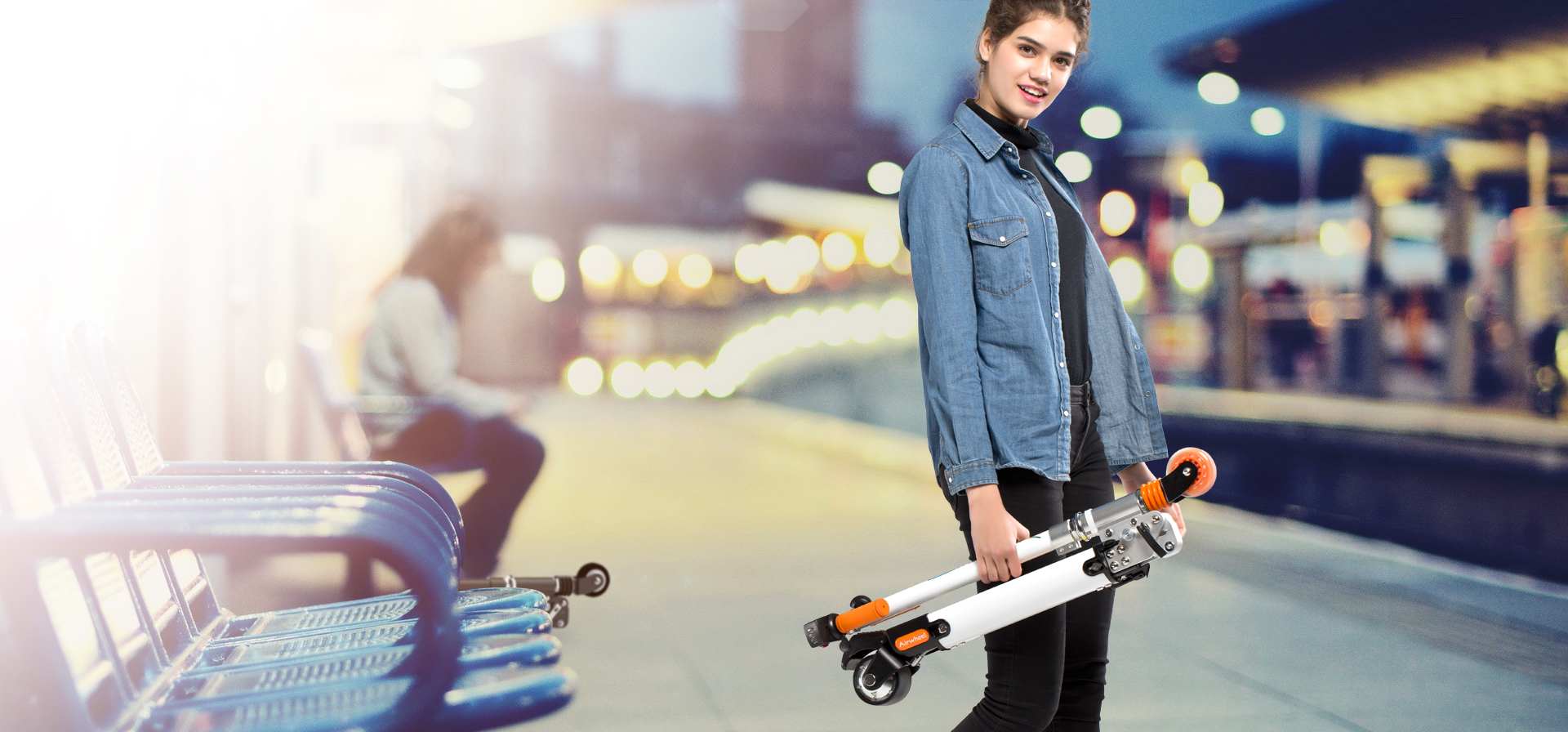mini lightweight electric scooter