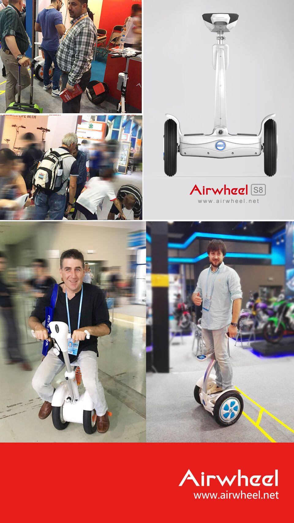 Airwheel S9 intelligent wheeled mobile robot