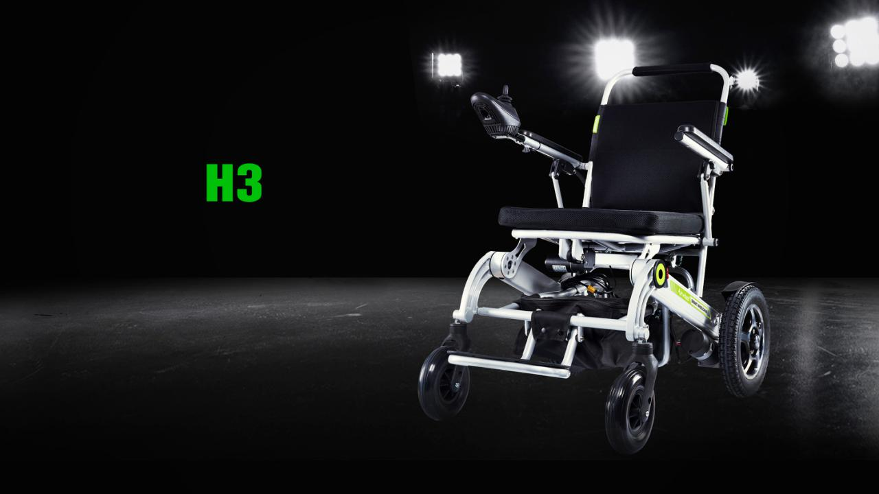 H3 folding electric wheelchair