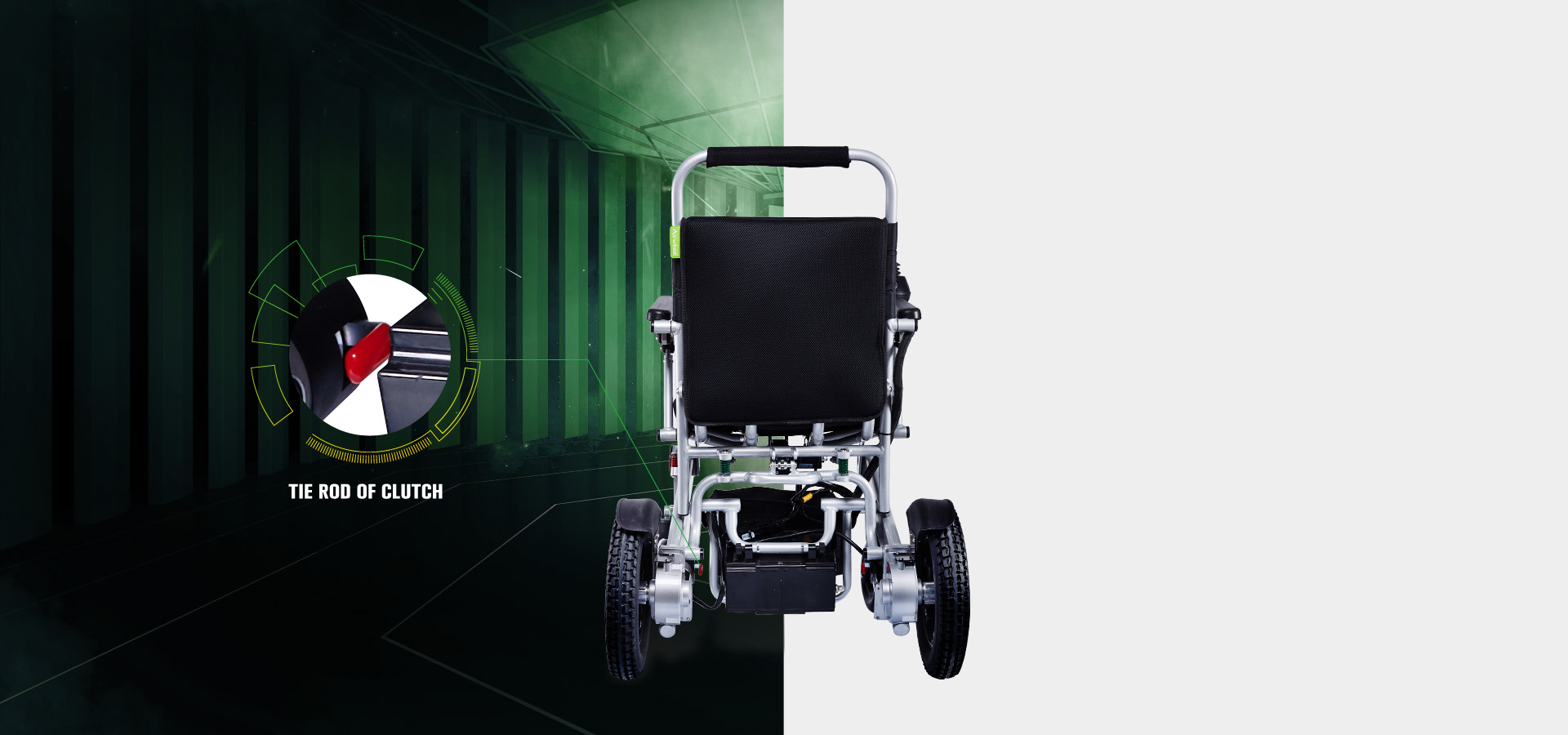 Airwheel H3 lightweight folding electric wheelchair