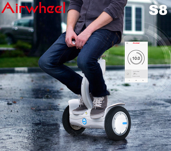 saddle-equipped self-balancing scooter
