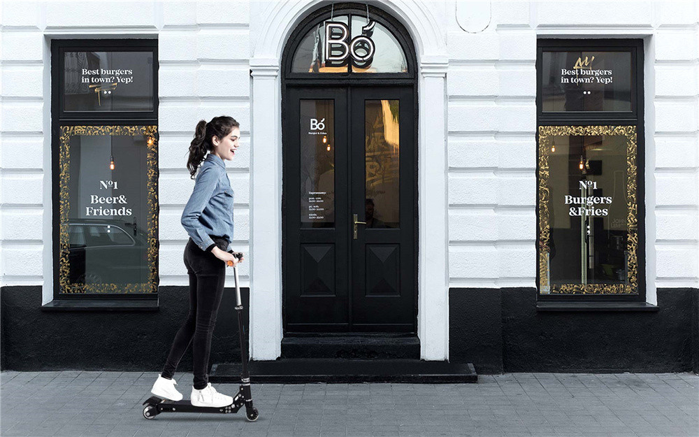 Airwheel-Z8-black-electric-scooter-on-the-road