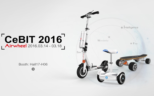 Airwheel to exhibit its brilliant intelligent motorized skateboards on cebit in hannover 2016