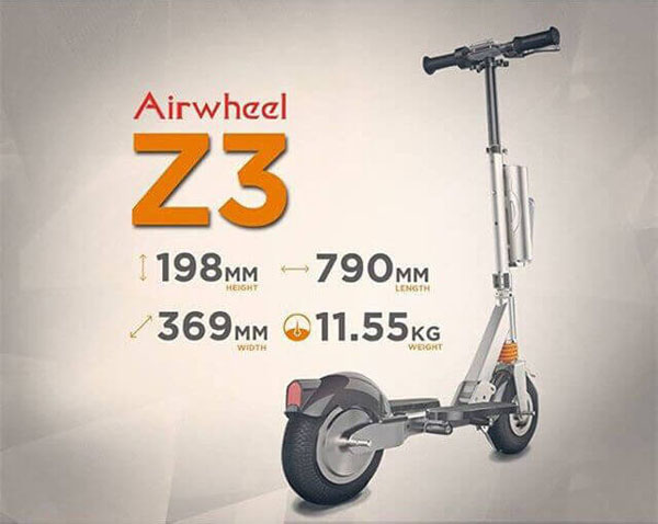 Airwheel electric two-wheeled self-balancing scooter