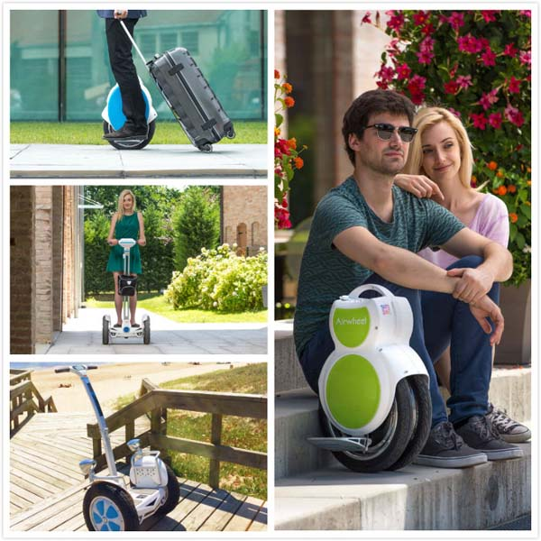 Airwheel electric self-balancing scooters