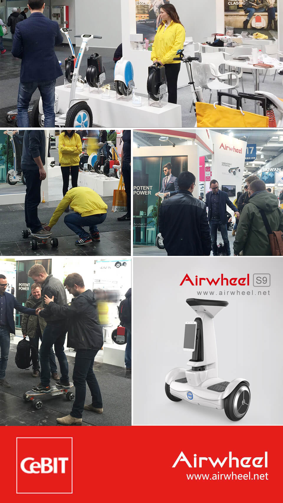 Airwheel S9 artificial intelligence robots