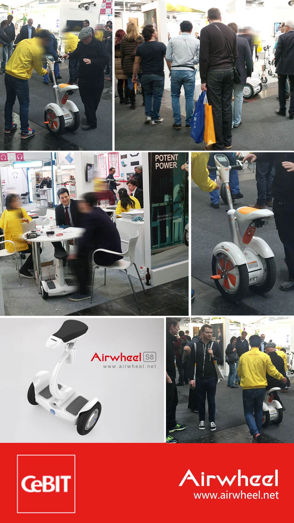 Airwheel S8 two wheel saddle-equipped scooter