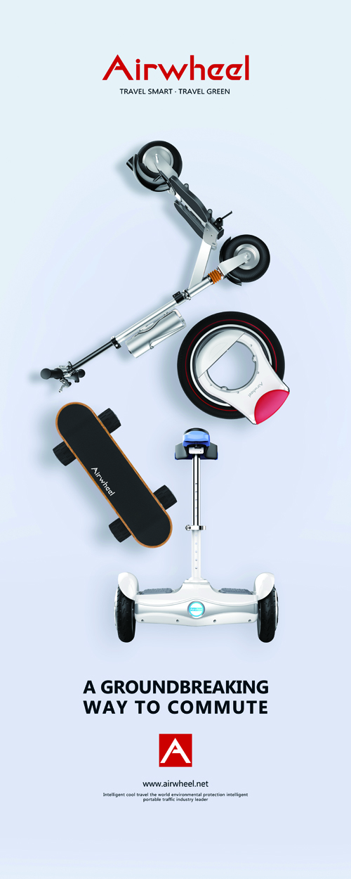 two wheeled self-balancing electric scooter