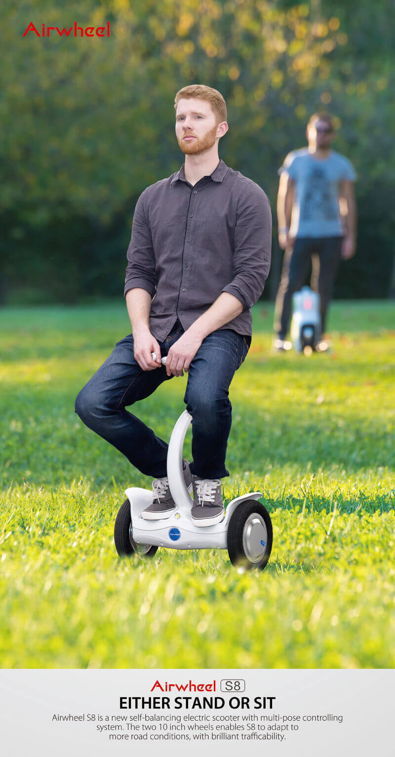 electric scooter with seat airwheel s8