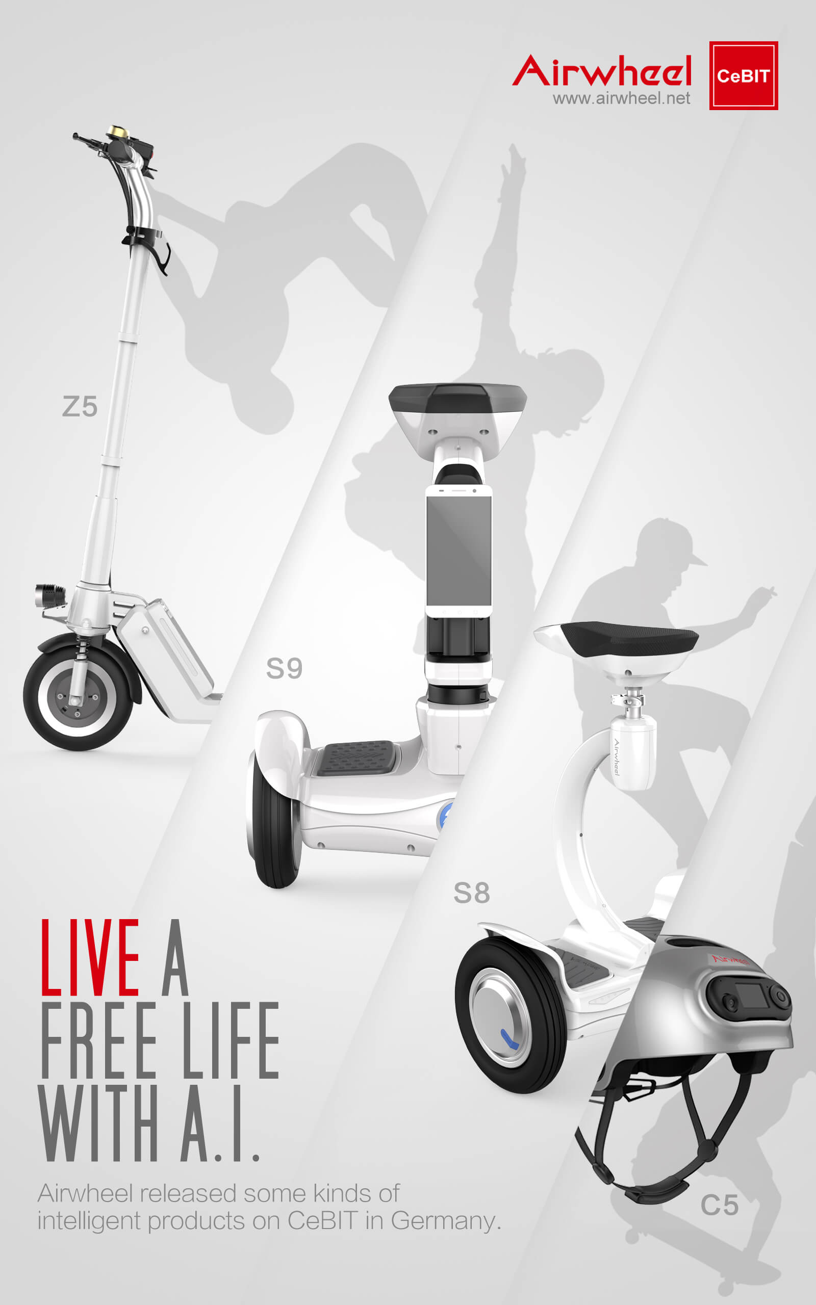Airwheel balance robot and smart helmets