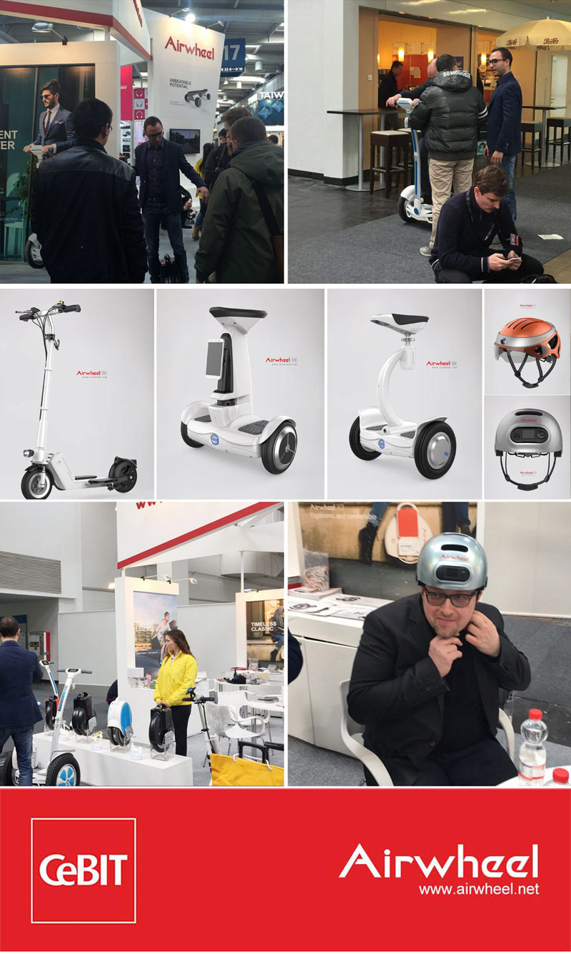 Airwheel scooter at CeBIT 2016