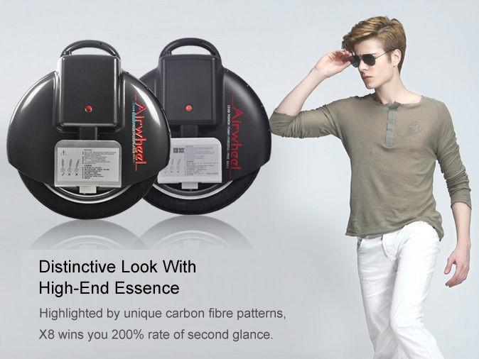 Airwheel X8 Una Ruota Scooters Elettrici recensione: Durevole ed esteticamente gradevole